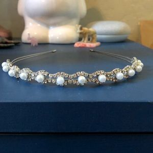 Pearl and diamond headband